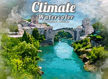 Climate Watercolor Photoshop Action
