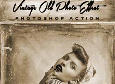 Vintage Old Photo Effect Photoshop Action