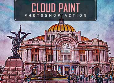 Cloud Paint Photoshop Action